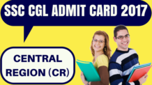 SSC CGL Admit Card Central Region