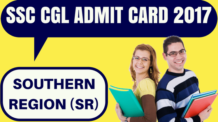 SSC CGL Admit Card Southern Region