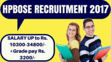 HPBOSE Recruitment