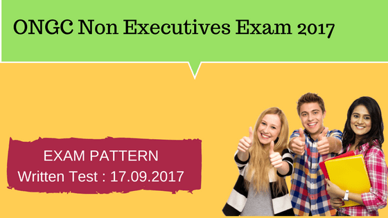 ONGC Non Executives Exam Pattern