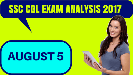SSC CGL Exam Analysis