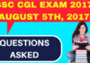 SSC CGL Memory Based Questions