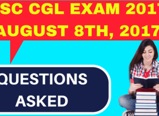 SSC CGL Questions Asked August 8