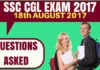 SSC CGL Questions Asked on 18th August