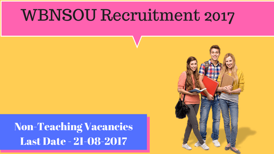 WBNSOU Recruitment 2017