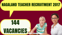 Nagaland Teacher Recruitment