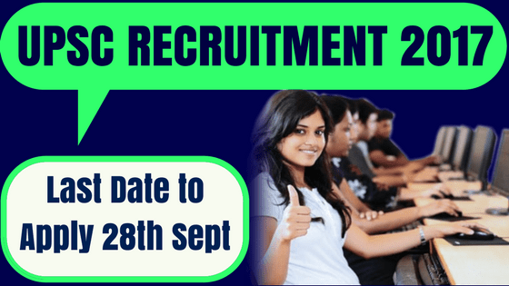 UPSC Scientific Officer Recruitment