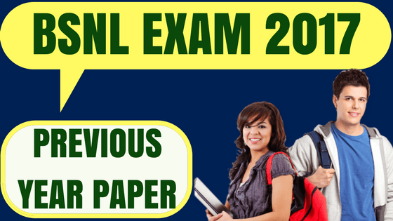 BSNL Previous Year Question Paper