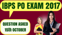 IBPS PO Questions Asked 15th October 2017