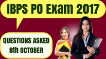 IBPS PO Questions Asked 8th October 2017