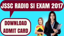 Jharkhand Police JSSC Radio SI Admit Card