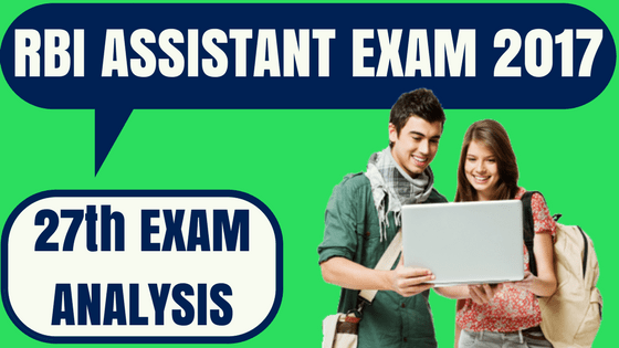 RBI Assistant Exam Analysis 27th Nov