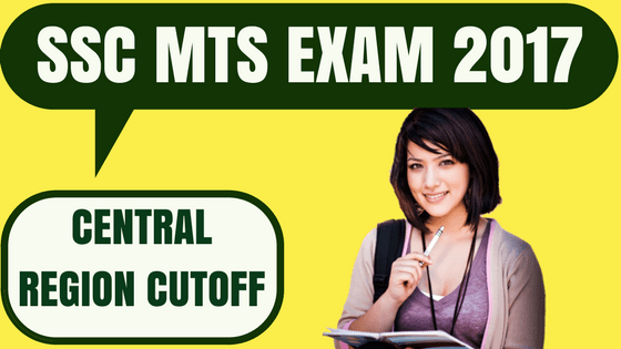 SSC MTS Cutoff Central Region