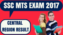 SSC MTS Result Central Region