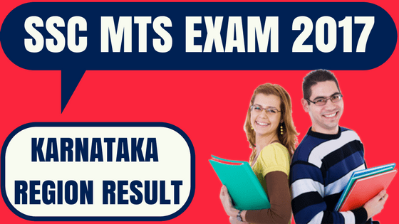 SSC MTS Result Karnataka Region