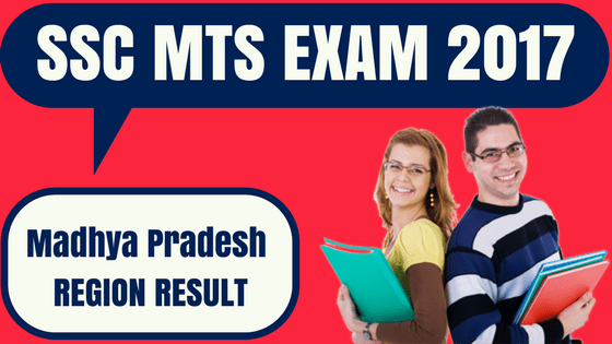 SSC MTS Result MP Sub Region