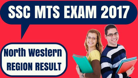 SSC MTS Result North Western Region