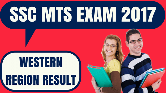 SSC MTS Result Western Region