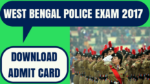 WB Police Admit Card