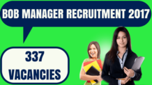 BOB Manager Recruitment