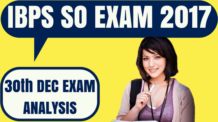 IBPS SO 30th December Exam Analysis