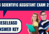 SSC Scientific Assistant Answer Key