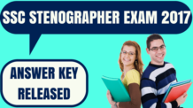SSC Stenographer Answer Key