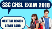 SSC CHSL Admit Card Central Region