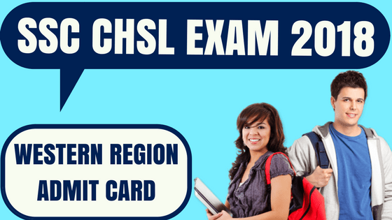 SSC CHSL Admit Card Western Region