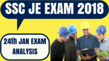 SSC JE Analysis 24th January 2018