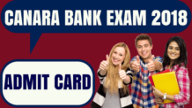 Canara Bank Admit Card