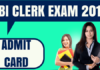 SBI Clerk Admit Card