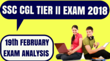 SSC CGL Tier 2 Exam Analysis 19th Feb