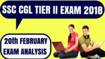 SSC CGL Tier 2 Exam Analysis 20th Feb
