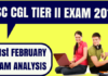 SSC CGL Tier 2 Exam Analysis 21st Feb