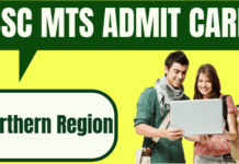 SSC MTS Admit Card Northern Region