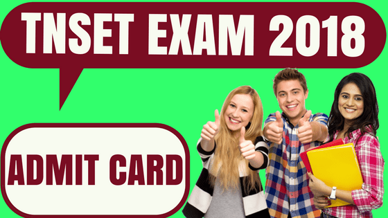 TNSET Admit Card