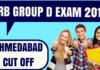 RRB Group D Ahmedabad Cut off