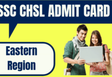 SSC CHSL Admit Card Eastern Region