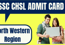 SSC CHSL Admit Card North Western Region