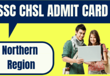 SSC CHSL Admit Card Northern Region