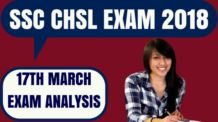 SSC CHSL Exam Analysis 17th March
