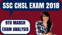 SSC CHSL Exam Analysis 9th March