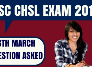 SSC CHSL Questions Asked 6th March