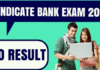 Syndicate Bank PO Result