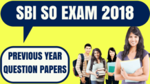 SBI Specialist Officer Previous Year Papers