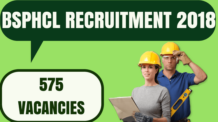 BSPHCL Engineer Recruitment