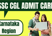 SSC CGL Admit Card Karnataka Region