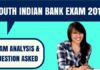 South Indian Bank Exam Analysis