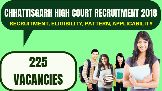 Chhattisgarh High Court Recruitment